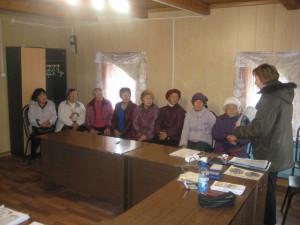 пос.Жиганск выступление пере обществом ветеранов