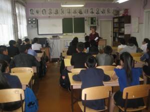 выступление перед школьниками школы №1 пос.Жиганск