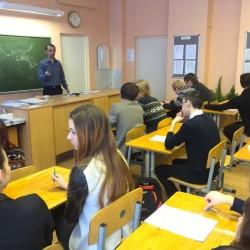 Руслан Низамов проводит лекцию в школе 176 г. Екатеринбург