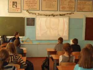 Иван Маккоев и Ирина Зачёсова в СОШ №4 в г. Сегежа