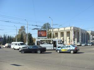 Ролики на светодиодных щитах города Костромы