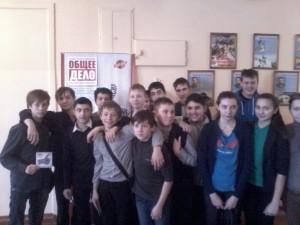 Общее дело в Никольской школе Костромского района Тихомиров Сергей