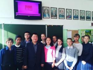 Общее дело в школе №14 города Кызыла республики Тыва Михайлов Денис Герасимович
