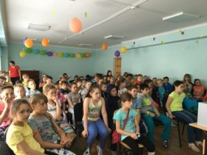 Общее дело в детском лагере на базе школы №45 города Сургут ХМАО