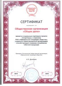 """ОО """"Общее дело"""" является социальным партнером проекта """"СпортГрадъ"""""""