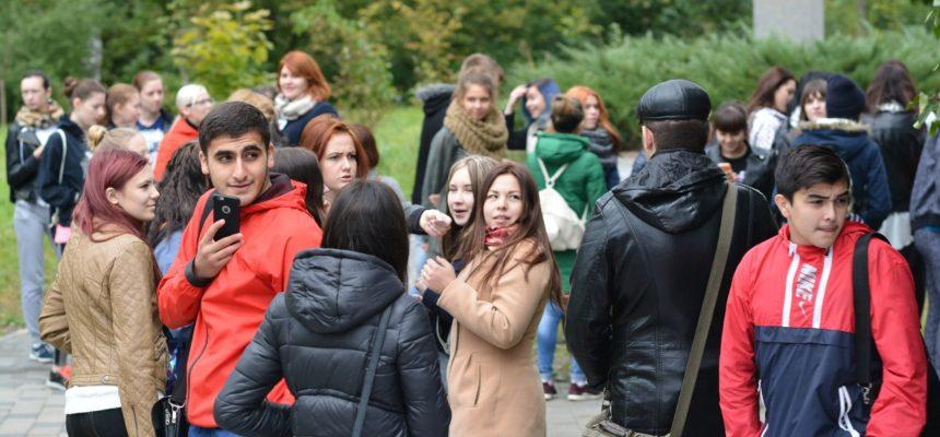 «Веревочный курс» для студентов - первокурсников ОГУЭТ города Орла