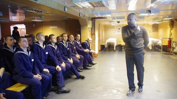Общее дело на встрече с личным составом ракетного крейсера Москва в Крыму