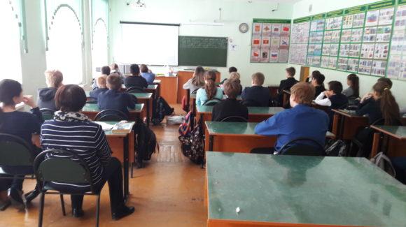 Общее дело у школьников 7 А класса Лицея №14 города Владимир