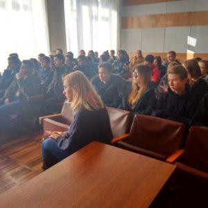 Встреча со студентами Донецкого экономико-правового кооперативного техникума имени Н. П. Баллина.