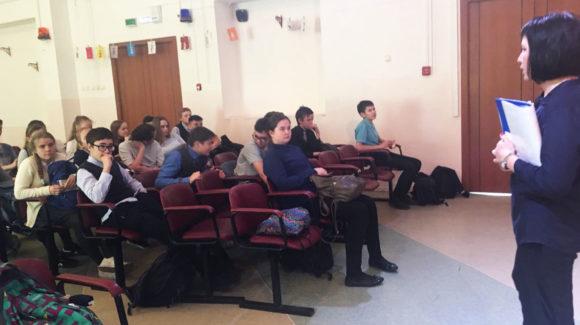 Активисты ОО «Общее дело» провели профилактическое занятие в Бердском  Лицее № 7