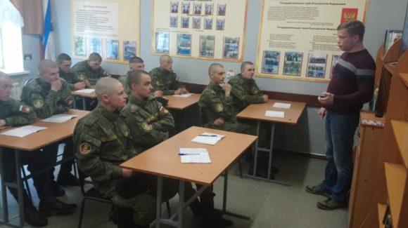 Общее дело на встрече военнослужащими срочной службы в/ч 25030-4 г. Вилючинск Камчатского края