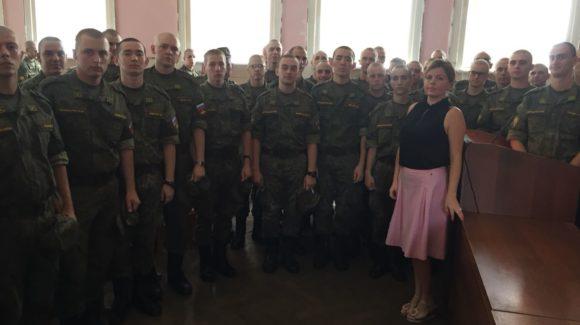 Общее дело в Шифровальном училище им. Штеменко города Краснодара