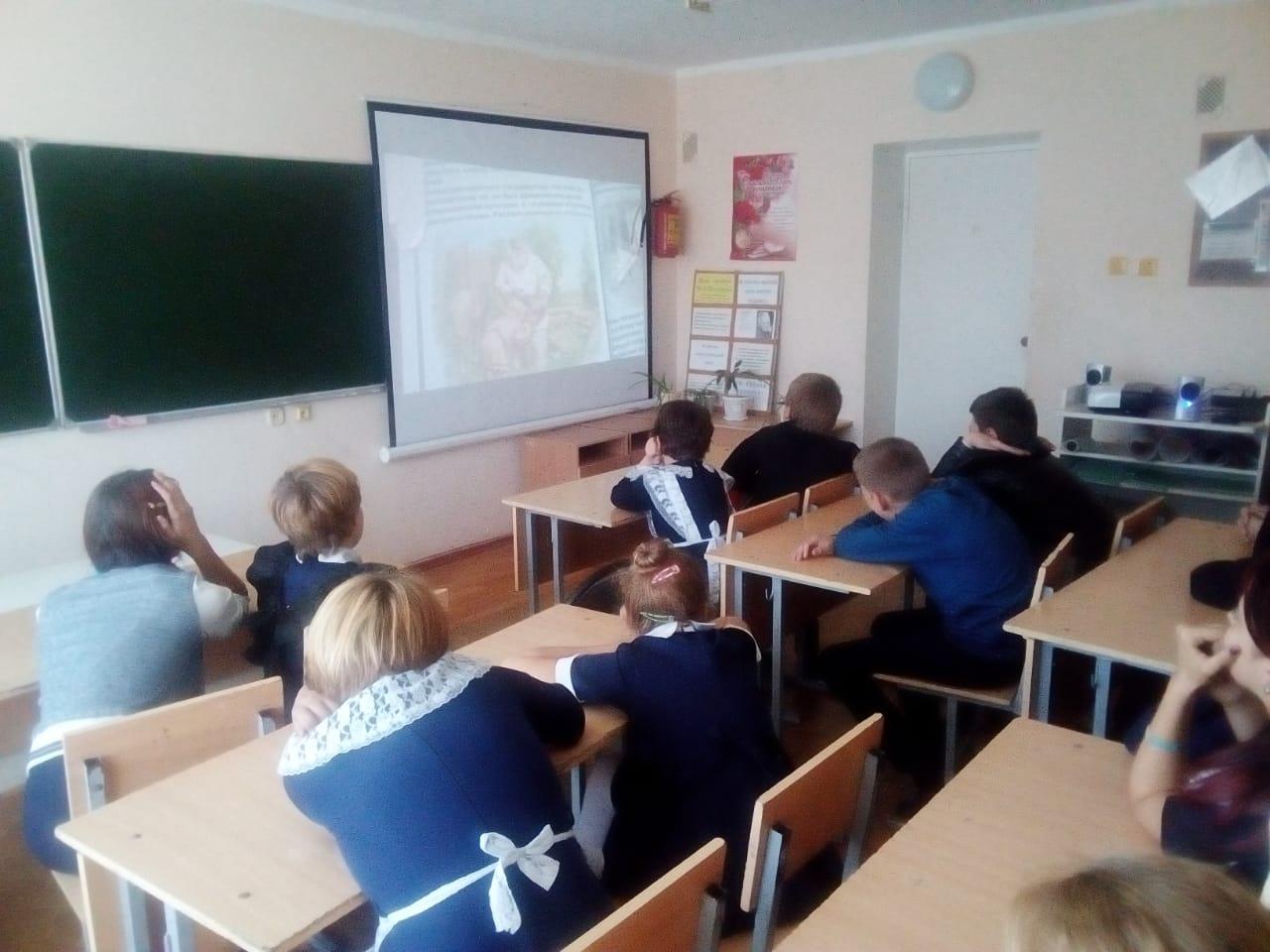 Общее дело в Терновской школе Милютинского района Ростовской области