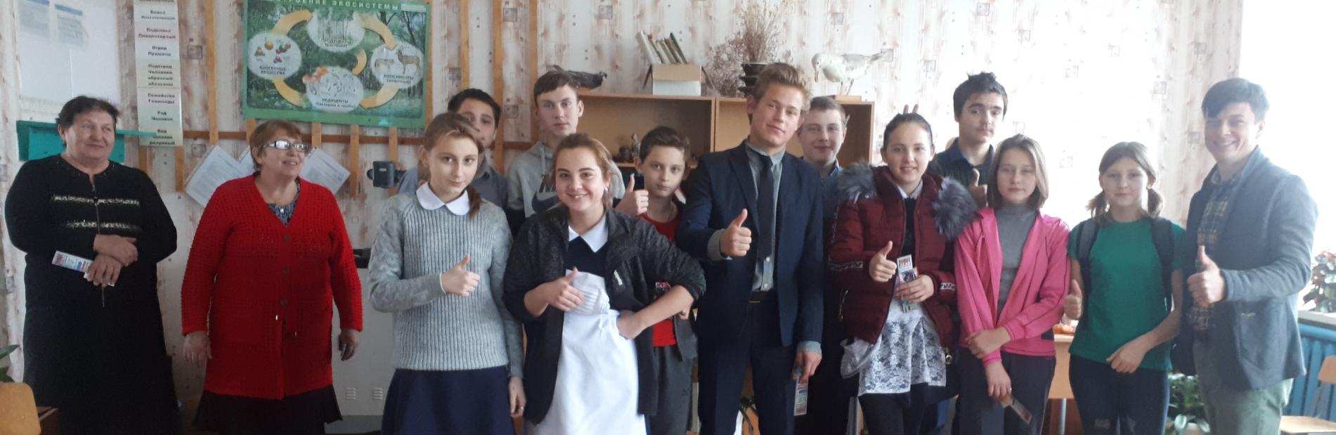 Общее дело в школе посёлка Доброполье Ростовской области