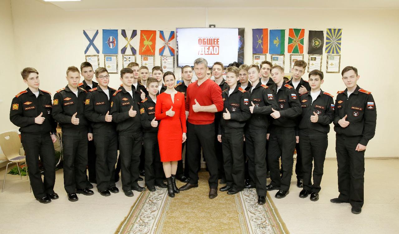 Общее дело в Пермском суворовском военном училище.
