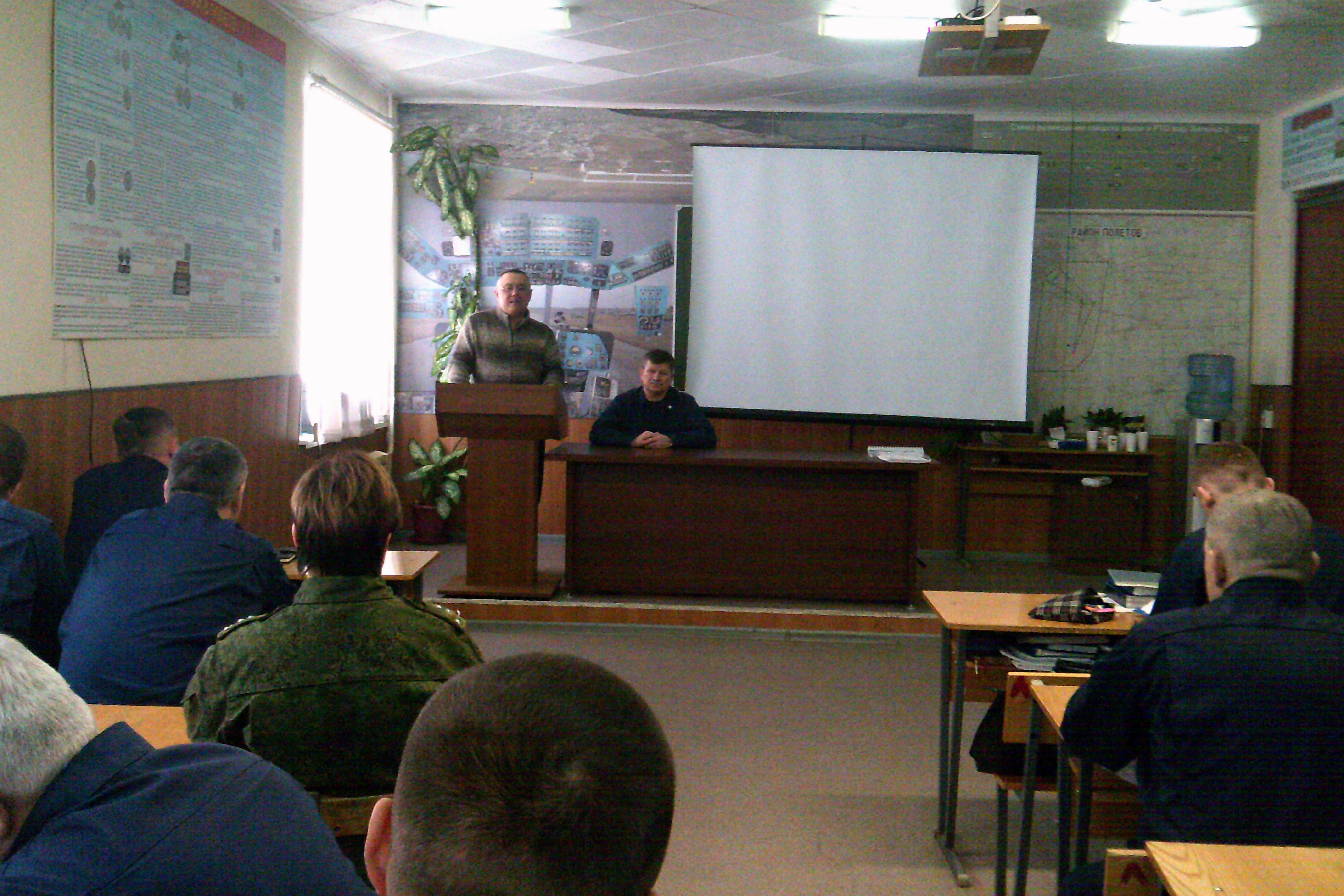 Общее дело на ознакомительной встрече с офицерами Летной Воинской части города Энгельса