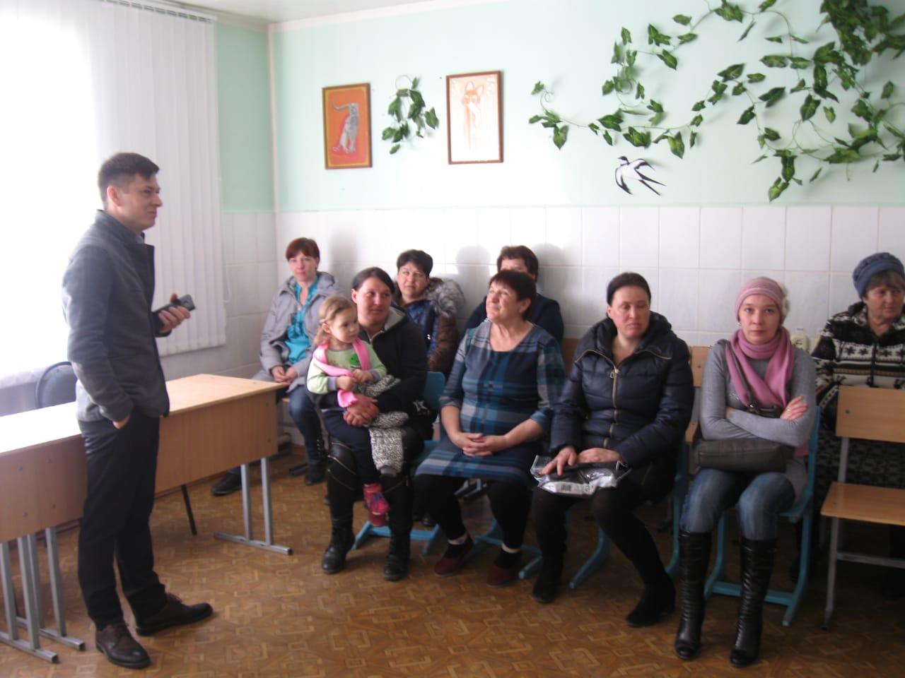 Общее дело на родительском собрании в Терновской средней школе Милютинского района Ростовской области