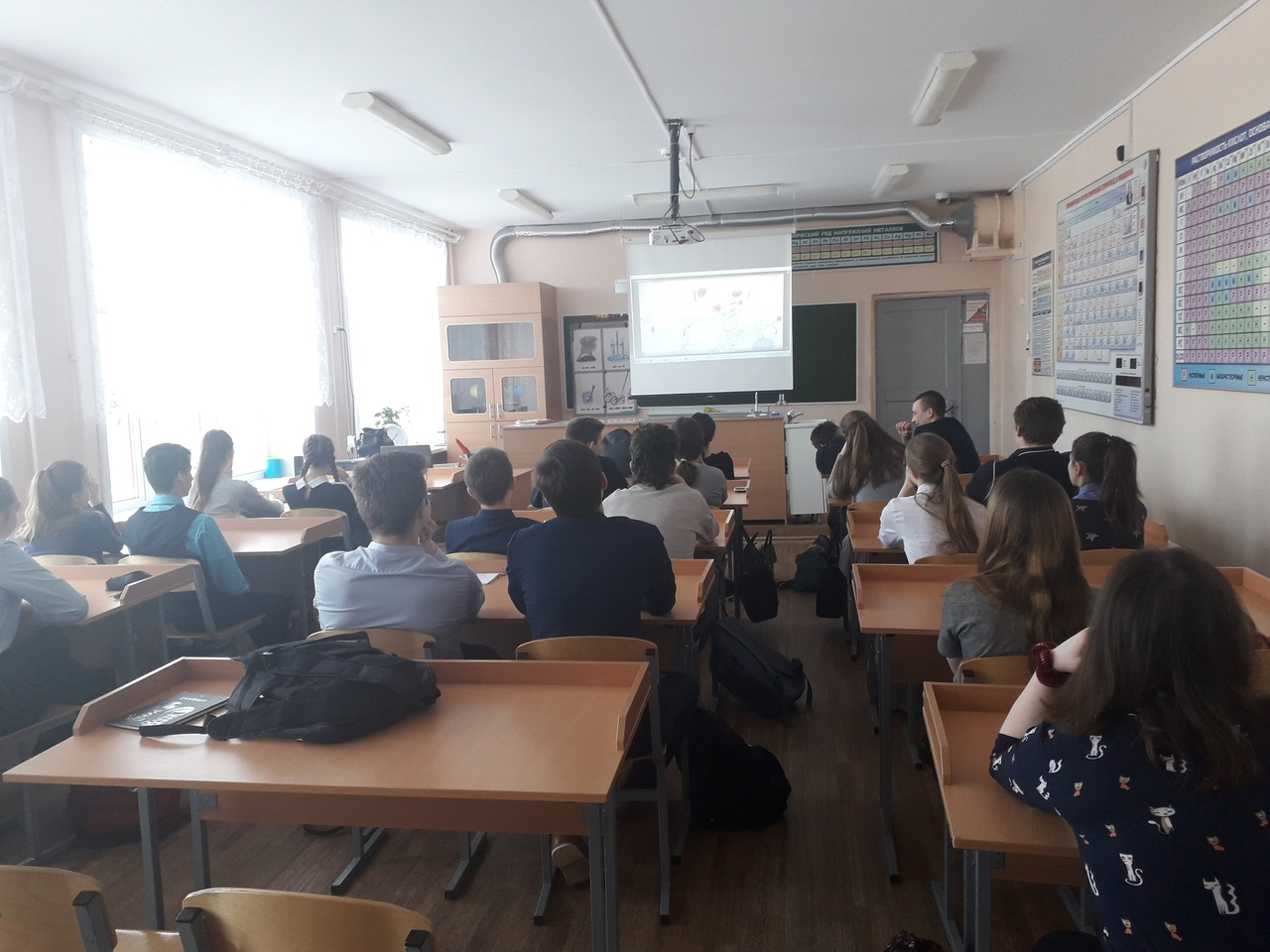Общее дело в школе села Бегуницы Ленинградской области