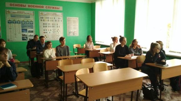 Занятие в школе № 18 города Кинешма