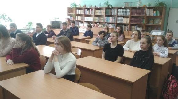 Занятие по материалам «Общего Дела» в школе №8 г.Кинешма