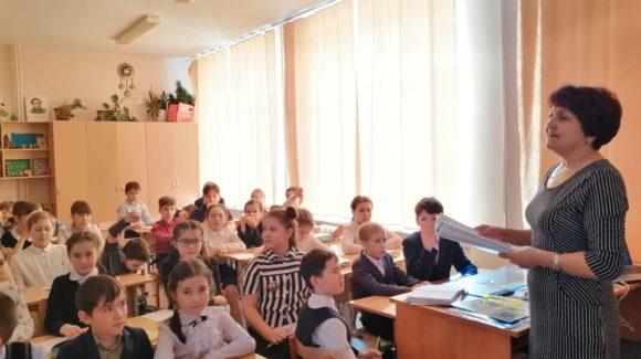 Занятия о вреде курения в средней школе № 5 города Учалы