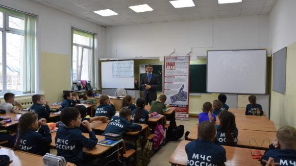 Интерактивное занятие в Кадетской школе города Южно-Сахалинска