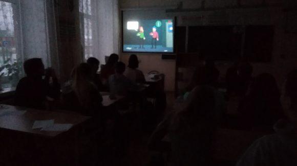 Урок «Грязные слова» в Майской средней школе г.Краснокамска