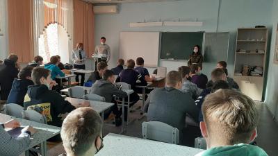 В рамках конкурса общественники и сотрудники УНК ГУ МВД России провели мероприятие в филиале дорожно-транспортного техникума в деревне Замятино