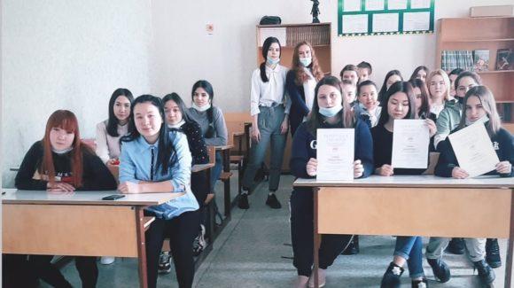 Классные часы по профилактике табакокурения со студентами 1 курса Белорецкого педагогического колледжа
