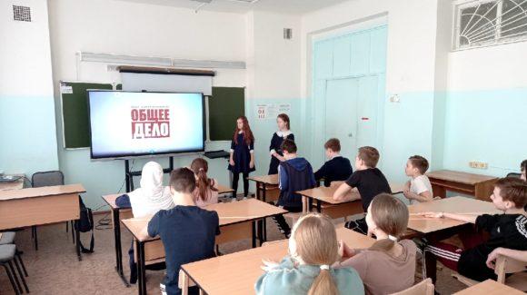 Отряд «Румяные щечки» школы №23 г.Сарапул провёл профилактический урок для 7А класса