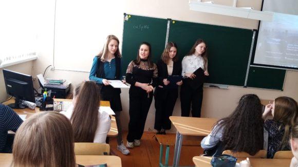 Волонтерский отряд «От сердца к сердцу» школы №2 г.Сарапула провели урок для 8В класса