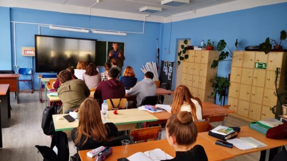 Уроки профилактики в московской школе №444