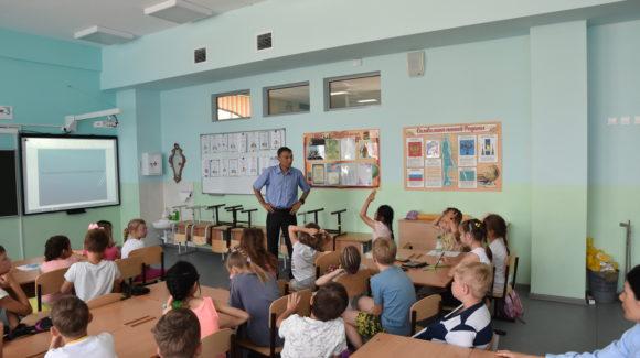 В Южно-Сахалинске прошло очередное занятие в школе №26 с учениками начальных классов