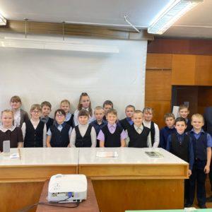 Четыре занятия с ребятами Усть-Алексеевской школы