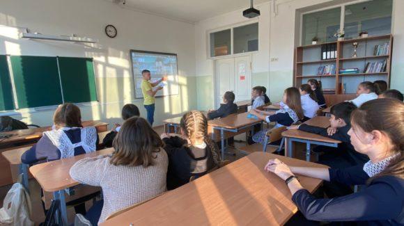 Занятие об опасности табака для ребят нефтекамской школы №4